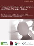 Curso Universitario de Especialista Comercial en el Canal Horeca